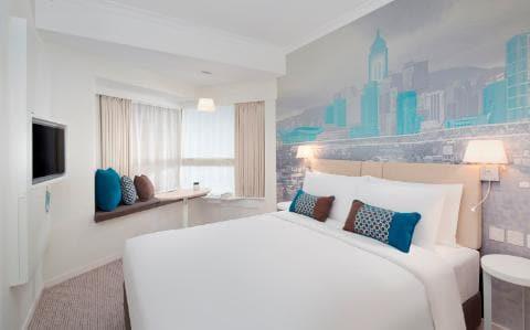Ozo Wesley hotel room in Hong Kong